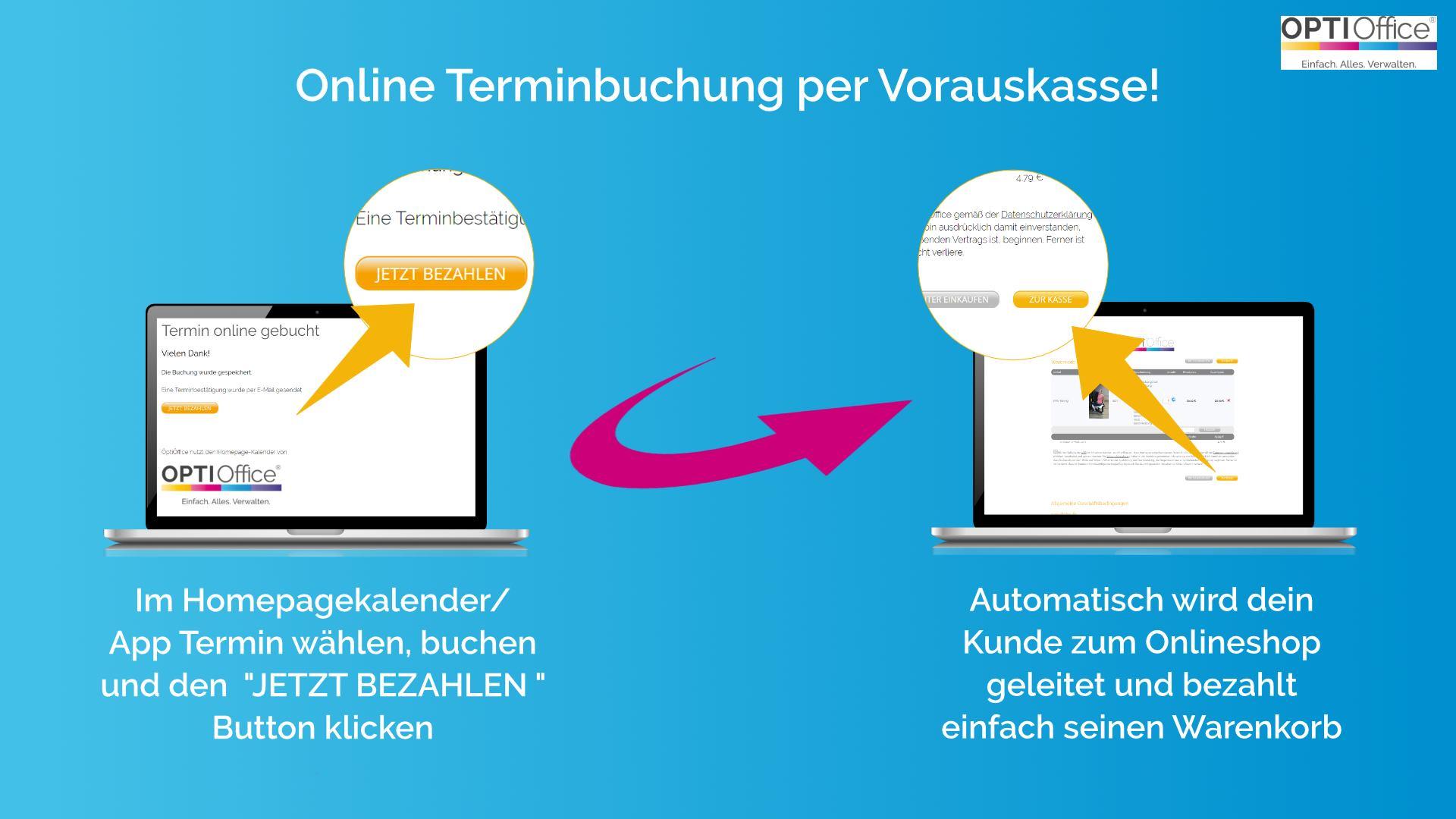 Update – Online Terminbuchung per Vorkasse!
